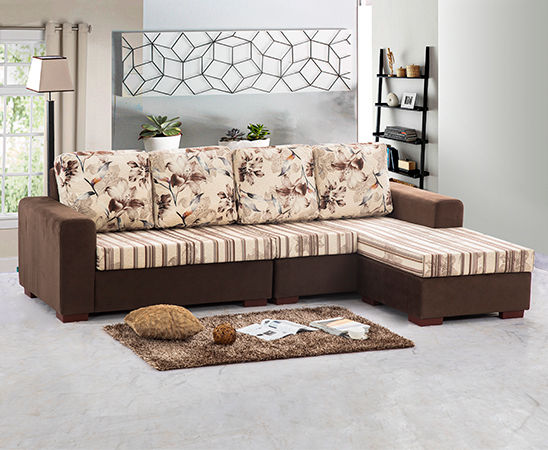 Gamma 4 Seater Chaise | Find Furniture And Appliances In Sri Lanka